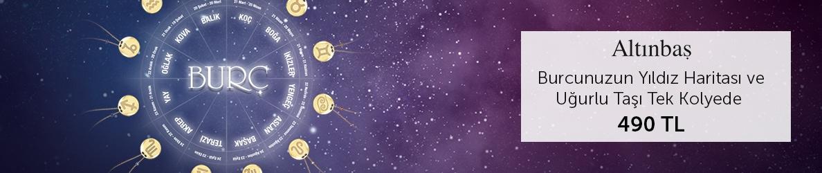 Altınbaş Burcunuzun Yıldız Haritası ve Uğurlu Taşı Tek Kolyede