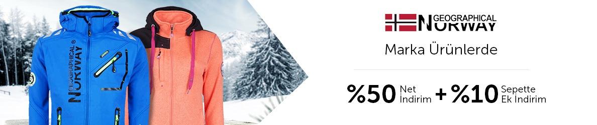 Norway geographical'da %50 indirime ek %10 sepet indirimi