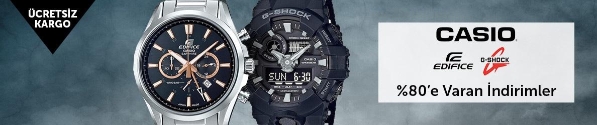Casio Edifice, G-shock Saatlerde %80'e Varan İndirimler
