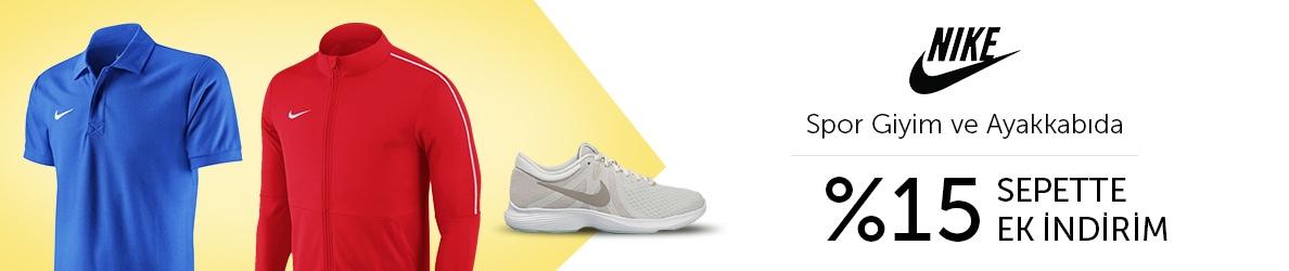 Nike Spor Giyim ve Ayakkabıda %15 Sepette Ek İndirim