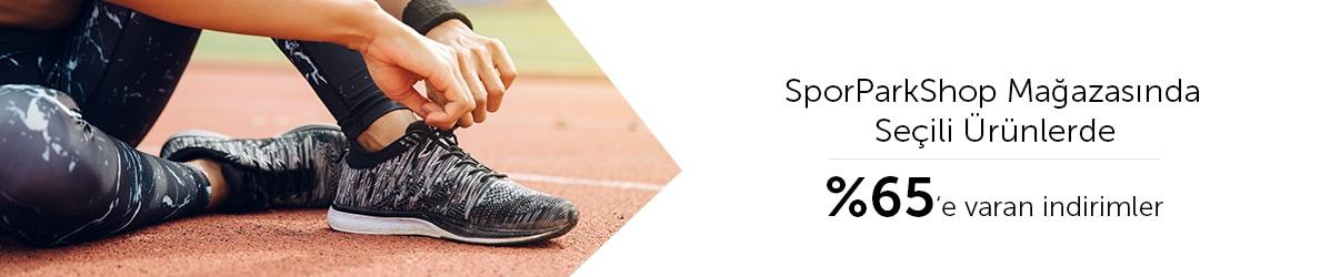 SporParkShop Mağazasında Seçili Ürünlerde Sepette %65'e Varan İndirimler
