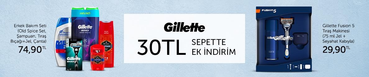 Evkiba Gilette 30 TL İndirim
