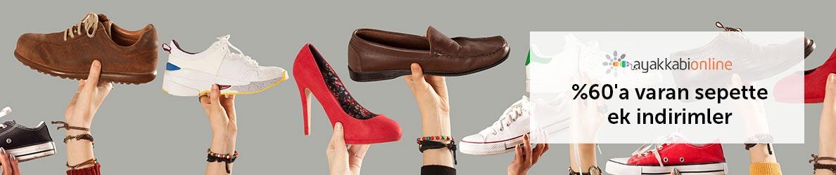 Ayakkabıonline %60'a Varan Sepette Ek İndirimler