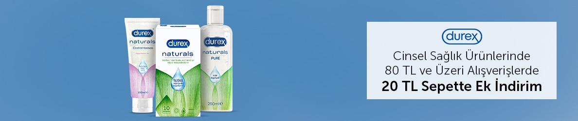 Durex Cinsel Sağlık Ürünlerinde 20 TL Sepet İndirimi
