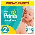 👪Prima Yenidoğan Bebek Bezi No: 2 Beden (216 Adet) Fırsat Paketi