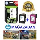 HP 301 İKİLİ PAKET 301 SIYAH + 301 RENKLI CH561E+CH562E=N9J72AE