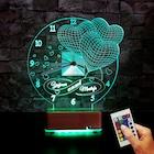 3 Kalpli Saatli Led lamba 16 Renk Sevgiliye Hediye İsimli Lamba