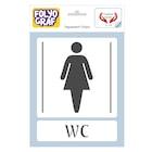 WC ikon. Kadın - Erkek Tuvalet Kapılarına Özel Sticker
