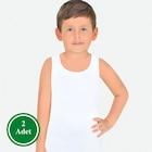 ÖTS Erkek Çocuk 2'li Süprem Atlet Beyaz (7001)