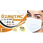 Özaytaç 4 Katlı Meltblownlu Siyah-Beyaz-Mavi Maske FDA+ÜTS Onaylı