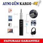 Bluetooth Araç Kiti Handsfree MP3 Çalar 3.5mm AUX Ses Müzik Alıcı
