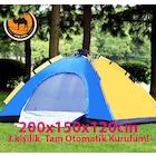 Tam Otomatik Kurulum 3 Kişilik Kamp Çadırı (200x150x120cm)