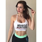Musclestation Sport Bra Toughgirl White- İnce askı