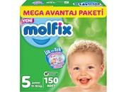 Molfix Bebek Bezi Mega Avantaj Paket 5 Beden 11-18 Kg 150 Adet