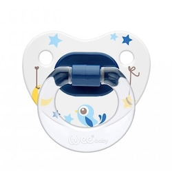 Wee Baby Desenli Damaklı Emzik No:1 Mavi