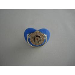 Zirkon Taşlı Emzik ( Mavi -Lacivert Daire Modelli )