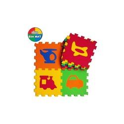 Oyun Matı Oyuncak Oyun Matı Renkli Taşıt Desenli Sek Sek Taşıtlar