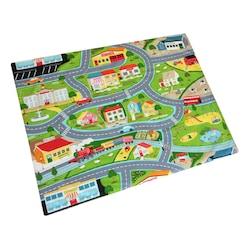 Oyun Minderi Oyun Matı Yer Matı Araba Yolu Trafik Desenli 135x105