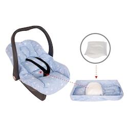 Sevi Bebe Bel Destekli Ana Kucağı Örtüsü  mavi-pembe-gri Yıldız