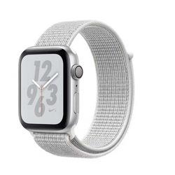 Apple Watch 2 3 4 5 Serisi 44mm Hasır Kordon Gümüş