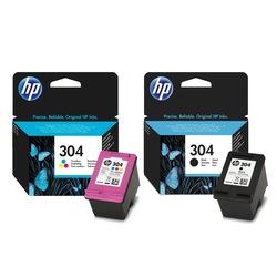 HP 304 Siyah + HP 304 Renkli İkili Paket  ORİJİNAL