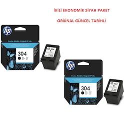 HP 304 Siyah + HP 304 Siyah İkili Paket ORİJİNAL