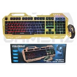 Polygold PG-8014 Işıklı Oyuncu Q Klavye Mouse Seti