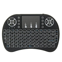 Smart Tv Box PS3 Uyumlu Kablosuz Dokunmatik Işıklı Şarjlı Touchpadli Mini Q Klavye