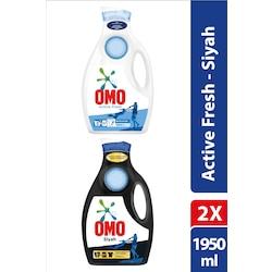 Omo Sıvı Deterjan Active Fresh 1950 mL + Black 1950 mL