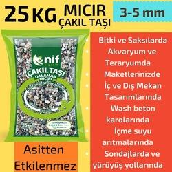 Mıcır-Çakıl Taşı 25 kg - Nif Organik Doğal Taş 3-5 mm