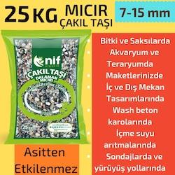 Mıcır-Çakıl Taşı 25 kg - Nif Organik Doğal Taş 7-15 mm