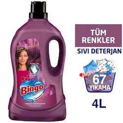 Bingo Sıvı Çamaşır Deterjanı Onaran Koruma Renkliler İçin 67 Yıkama 4 L