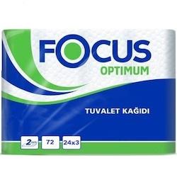 Focus Optimum Çift Katlı Tuvalet Kağıdı 3 x 24 Rulo