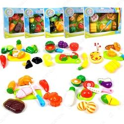 Kesilebilen 73 Parça Kesme Tahtalı Oyuncak Sebze Meyve Set PC221