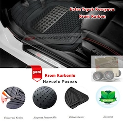 Volkswagen Passat B7 2011-2014  3D Havuzlu Kauçuk Paspas Takımı