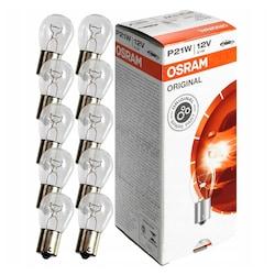 Osram 7506 P21W 93 Sinyal Stop Ampul 12V 21W 10 Adet Tek Duy Düz