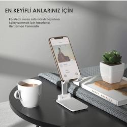 Rosstech Masa Üstü Telefon ve Tablet Standı Şık Tasarım