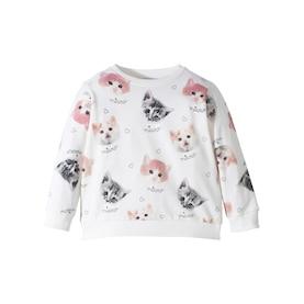 Bonprix Baskılı Sweatshirt - Beyaz