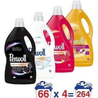 Perwoll Sıvı Çamaşır Deterjanı 66 Yıkama Farklı Çeşitlerde 4 x 4 L