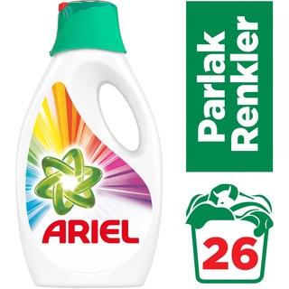Ariel Parlak Renkler Sıvı Çamaşır Deterjanı 26 Yıkama 2 x 1690 ML
