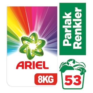 Ariel Toz Çamaşır Deterjanı Parlak Renkler 53 Yıkama 8 KG