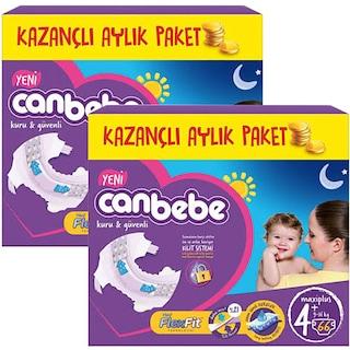 Canbebe Bebek Bezi 4+ Maxi Plus Beden 2 * 66 = 132 Adet 9-16 kg