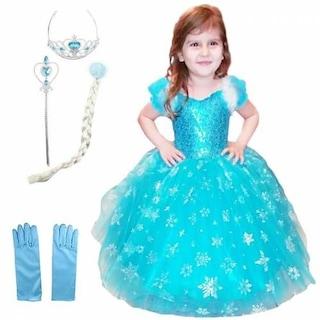 Tarlatanlı  Kostüm Kız Çocuk Kostümü - Tarlatanlı Frozen Kostümü