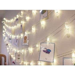 20 Adet LED Işıklı Fotoğraf Askısı Dekorasyon Özel Gün İdeal