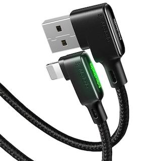 Mcdodo CA-7511 90° iPhone Lightning Şarj ve Data Kablosu 1.8M Siy