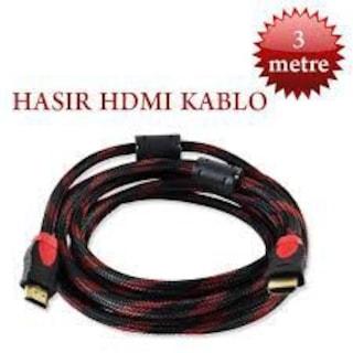 3 METRE ÇELİK ÖRGÜLÜ 3D STANDART HDMI KABLO-FULL HD GÖRÜNTÜ-HASIR