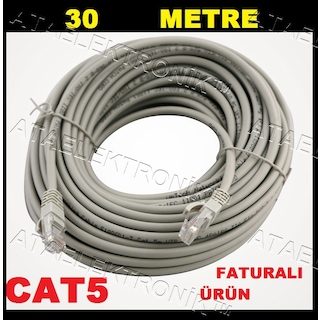 30 METRE CAT5 ETHERNET İNTERNET KABLOSU CAT5 CAT 5 MODEM AĞ BİLGİ