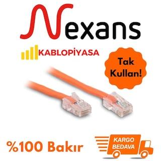 Nexans Halogen Free Cat6 Ethernet Kablosu %100 Bakır Uçları Hazır