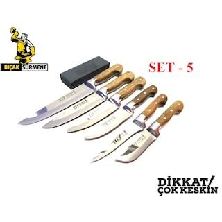 Mutfak Bıçak Seti Lazoğlu Sürmene Orj El Yapımı (SEÇENEKLİ SATIŞ)