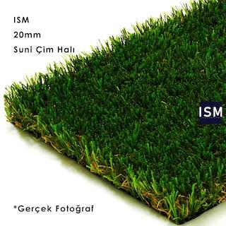 ISM - Suni Yapay Çim Balkon Halı Yüksek Doku Kalın 20mm Yeşil